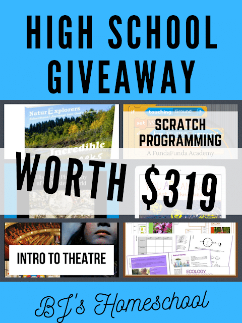 Need something else for your high school year? Enter this Back to High School GIVEAWAY! HURRY...giveaway ends September 5th! #homeschoolers #homeschooling #giveaway #freehomeschooldeals