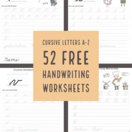 FREE Cursive Letter Sheets