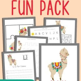 Add a little something different and unique to your homeschool with this Llama Pre-K Fun Pack! #fhdhomeschoolers #freehomeschooldeals #hsdays #homeschooling #homeschoolers
