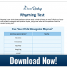 Help diagnose your child's rhyming ability and teach them to rhyme with these 5 FREE Ways to Teach Rhyming + Rhyming Test! #homeschoolrocks #homeschooling #homeschoolers #homeschool #rhyming #homeschoolmoms