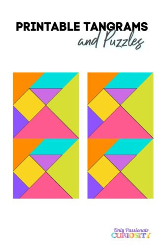 picture relating to Tangram Puzzles Printable referred to as Totally free Printable Tangrams Puzzles No cost Homeschool Bargains ©