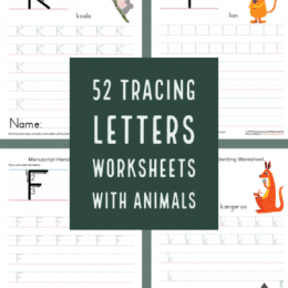 FREE Handwriting Practice with Animals