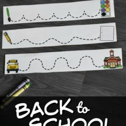 FREE Back to School Tracing Lines
