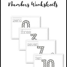 Work on numbers, pencil grip, and handwriting all in one with this Dab-a-Dot Number Practice! #freehomeschooldeals #fhdhomeschoolers #hsdays #homeschooling #homeschoolers