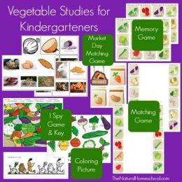 FREE Vegetable Activities for Kindergarteners