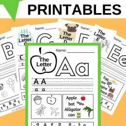 Practice new letters with these 26 FREE Printable Alphabet Worksheets! #fhdhomeschoolers #freehomeschooldeals #hsfreebies #alphabet #hsdays