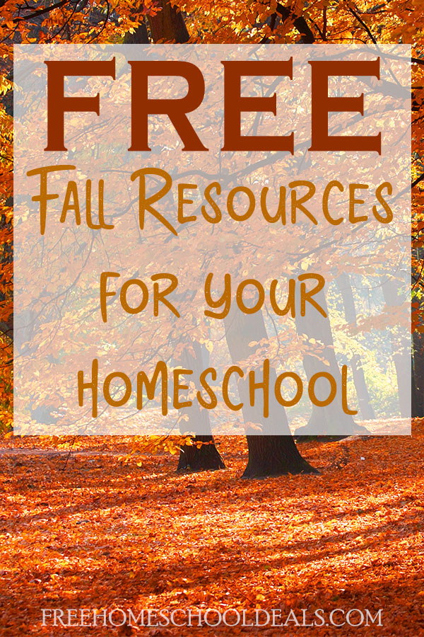 Fall bring cooler temperatures and falling leaves. Bring some of that fall learning inside with these FREE resources! #fall #autumn #homeschoolprintables #freehomeschooldeals