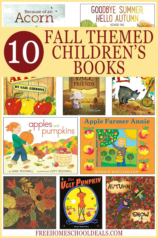 Fall is the perfect time to curl up with your favorite blanket and read a book in front of the fire. Check out these Fall Themed Children's Books! #reading #fall #autumn #freehomeschooldeals