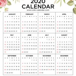 Organize your new year with this FREE 2020 Floral Calendar! #fhdhomeschoolers #freehomeschooldeals #organization #homeschoolmoms #2020