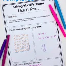 Word problems made easy with these FREE Editable Word Problem Templates! #fhdhomeschoolers #freehomeschooldeals #homeschoolmath #hsfreebies #hsdays