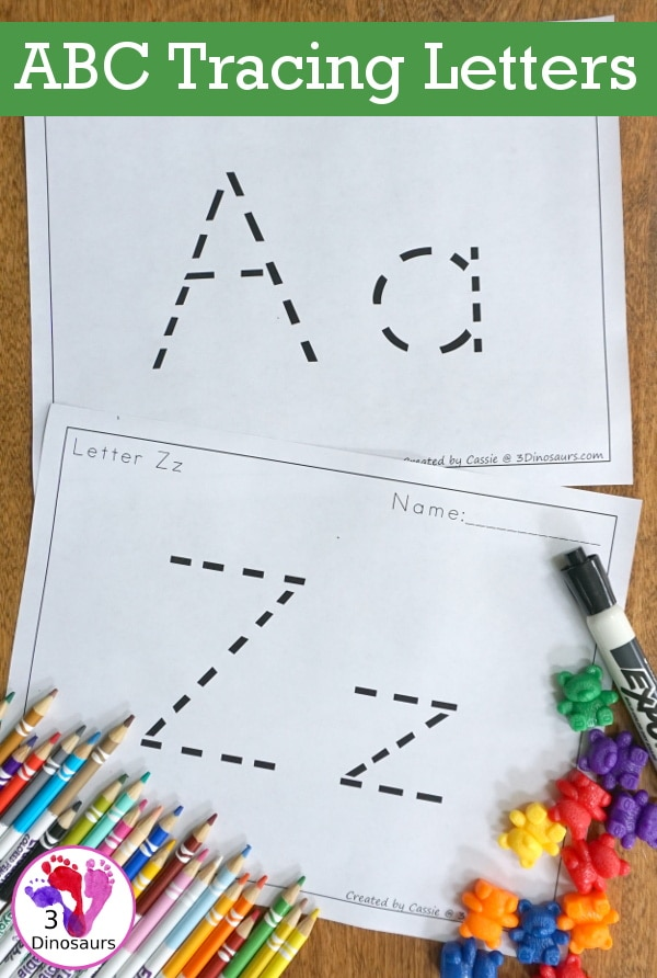 Check out these FREE ABC Letter Tracing Sheets! #fhdhomeschoolers #freehomeschooldeals #hsfreebies #homeschoolmoms #lettertracing