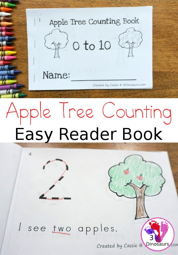 It's apple season! Check out this FREE Apple Tree Counting Easy Reader! #fhdhomeschoolers #freehomeschooldeals #fallresources #preschool #homeschoolinglife