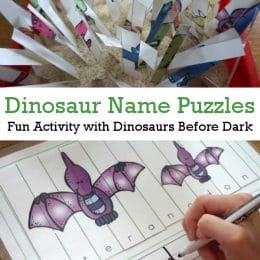 Teaching a dinosaur lover? You'll love these FREE Dinosaur Name Puzzles! #fhdhomeschoolers #freehomeschooldeals #hsfreebies #homeschoolmoms #science