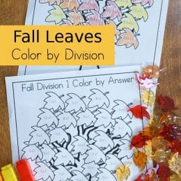 Don't dread division with this FREE Fall Leaves Color by Division! #fhdhomeschoolers #freehomeschooldeals #homeschoolmath #hsfreebies #fallresources