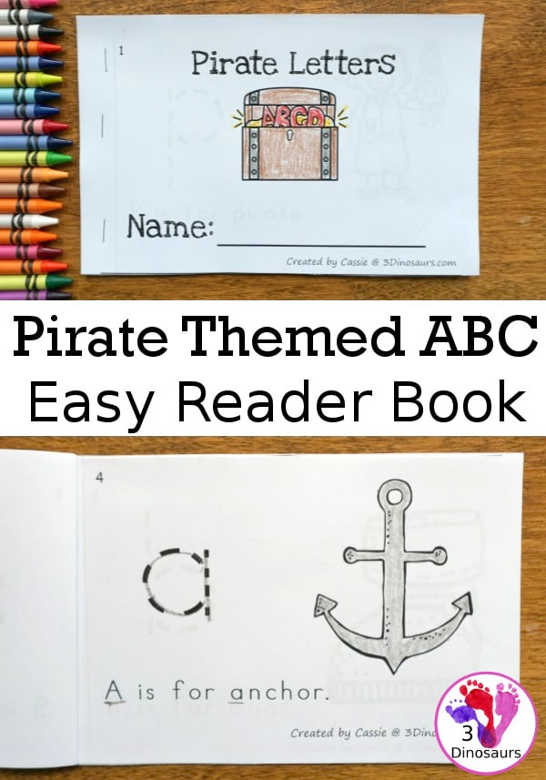 Learn pirate words with this FREE Pirate-Themed ABC Easy Reader! #fhdhomeschoolers #freehomeschoolers #hsfreebies #easyreaders #talklikeapirateday