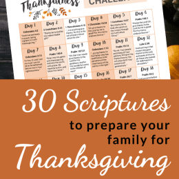 Celebrate the season with these 30 FREE Scriptures for Thanksgiving! #fhdhomeschoolers #freehomeschooldeals #christianhomeschooling #thanksgiving #homeschoolinglife