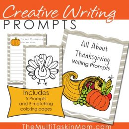 Write away this November with these FREE Thanksgiving Writing Prompts! #fhdhomeschoolers #freehomeschooldeals #thanksgivingresources #homeschoolinglife #hsfreebies