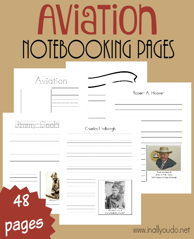 Learn about the Top 10 Aviators with these FREE Notebooking Pages. Perfect to use during National Aviators Month in November. #freehomeschooldeals #fhdhomeschoolers #notebooking #homeschoolers