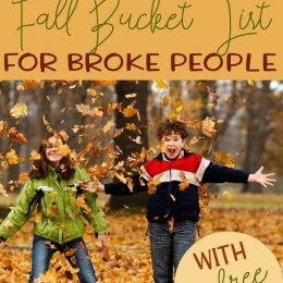 Fall is the perfect time to get outside and enjoy the cooler air. Need some great family ideas? Check out this Fall Bucket List on the cheap! #fall #bucketlist #freehomeschooldeals #fhdhomeschoolers
