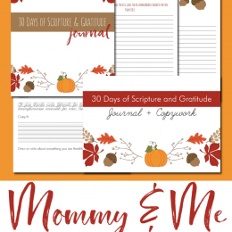 This November, check out these FREE Mommy & Me Gratitude Journals! #fhdhomeschoolers #freehomeschooldeals #gratitude #thanksgivingresources #homeschoolrocks