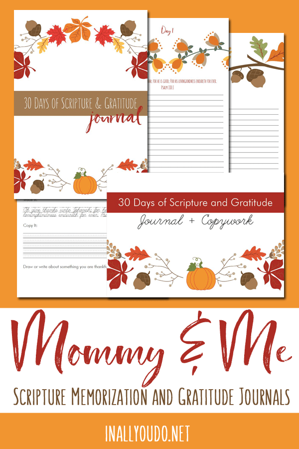 Are you looking for a way to learn and grow in the Bible with your children? Don't miss this Mommy & Me Gratitude Journal. Get it FREE for a Limited Time only! #Bible #gratitude #freehomeschooldeals #fhdhomeschoolers