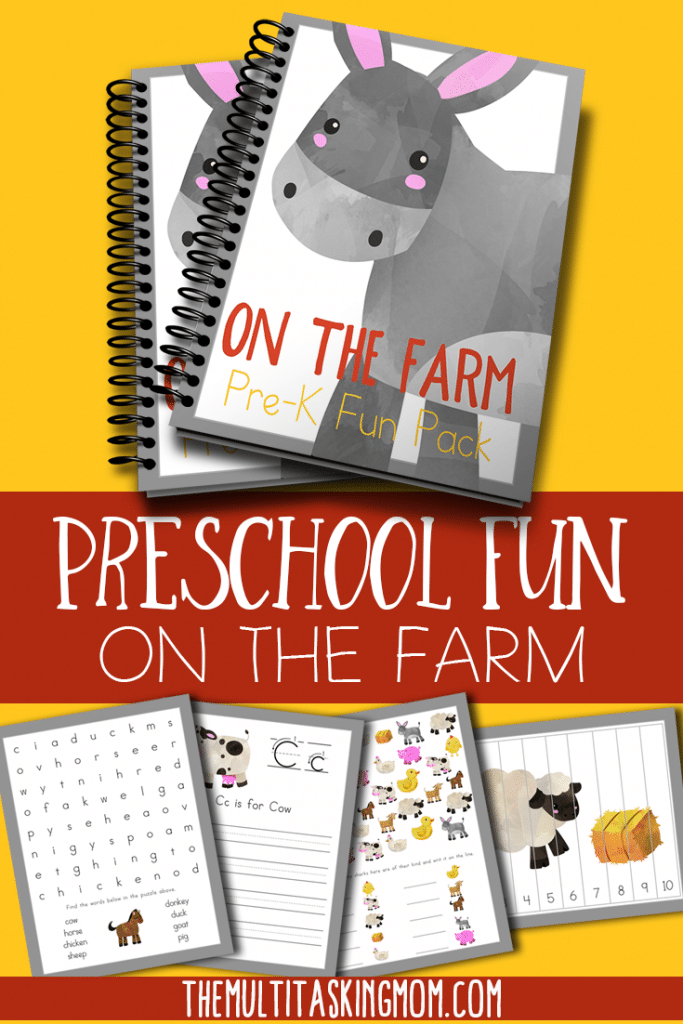 Do your little ones love farm animals? Use their excitement and enthusiasm to your advantage with this adorable PreK Farm Pack! #preschool #prek #freehomeschooldeals #fhdhomeschoolers