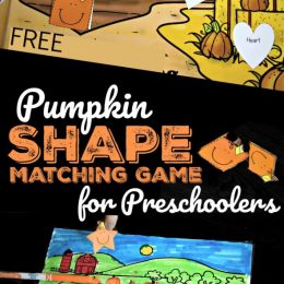 Have a little Fall fun with this FREE Pumpkin Shape Matching Game! #fhdhomeschoolers #freehomeschooldeals #fallresources #pumpkinmath #hsmoms