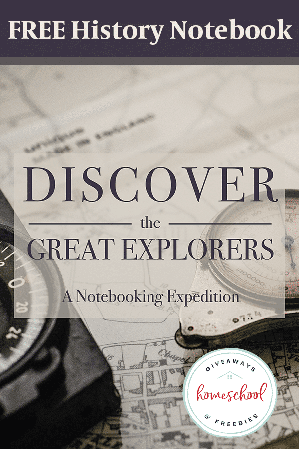 Kids can record what they learn about 50 different iconic explorers with this FREE Notebooking Journal. #notebooking #hsfreebies #freehomeschool deals #fhdhomeschoolers