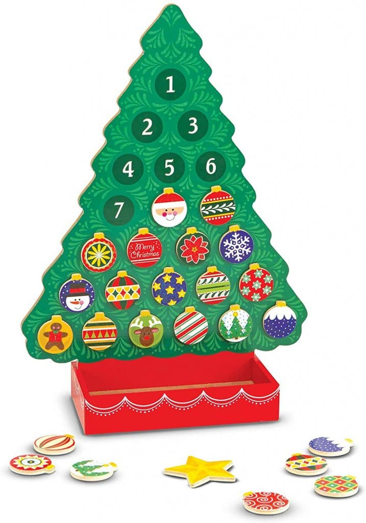 Get this Amazon Deal: 25% Off Christmas Wooden Advent Calendar! #fhdhomeschoolers #freehomeschooldeals #amazondeals #christmas #advent