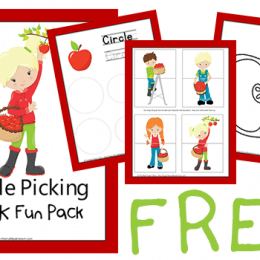 For apple and Fall lovers, you'll enjoy this FREE Apple Picking Pre-K Fun Pack! #fhdhomeschoolers #freehomeschooldeals #homeschoolinglife #fallresources #hsdays