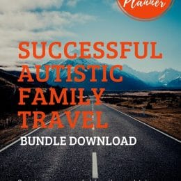 Make traveling easier this year with this FREE Autistic Family Travel Bundle for Success! #fhdhomeschoolers #freehomeschooldeals #homeschoolfamily #autism #hsmamas