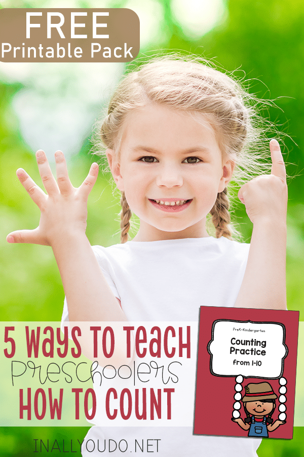 Check out 5 FREE Ways to Teach Preschoolers How to Count + Printable Pack! #fhdhomeschoolers #freehomeschooldeals #preschoolers #homeschoolmath #hsdays