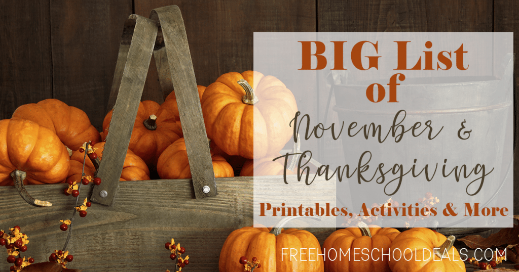 We know you homeschooling parents will be busy this month, but let us help you make it super fun with this big list of resources! #homeschoolers #homeschooling #freehomeschooldeals #fhdhomeschoolers