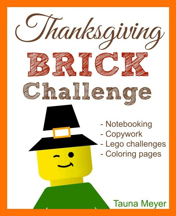 For Lego lovers, grab this FREE Thanksgiving Brick Challenge! #fhdhomeschoolers #freehomeschooldeals #thanksgiving #fallresources #legochallenge