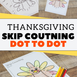 Exercise your child's math brain with this FREE Thanksgiving Skip Counting Dot to Dot! #fhdhomeschoolers #freehomeschooldeals #homeschoolmath #homeschoolinglife #thanksgiving