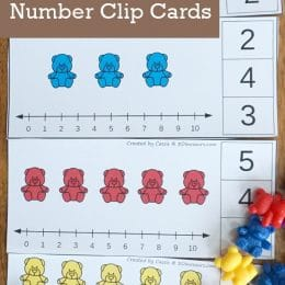 For counting fun, check out these FREE Bear-Themed Number Clip Cards! #fhdhomeschoolers #freehomeschooldeals #clipcards #homeschoolmath #hsmamas