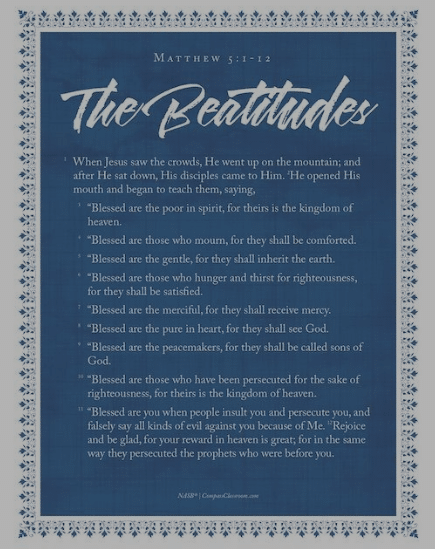 For Christian homeschool families, check out this FREE Beatitudes Poster! #fhdhomeschoolers #freehomeschooldeals #christianhomeschooling #thebeatitudes #hsfamily