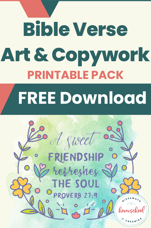 This FREE scripture resource will help your kids memorize scripture while improving their handwriting and encouraging their artistic side.