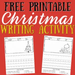 Keep up the writing this holiday with these FREE Elementary Christmas Writing Prompts! #fhdhomeschoolers #freehomeschooldeals #elementarywriting #christmasresources #homeschoolers