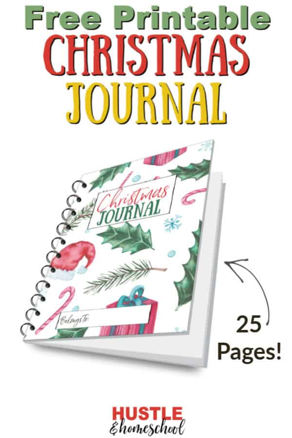 FREE Christmas journal printables for kids #christmasjournal #fhdfreehomeschoolers #freehomeschooldeals