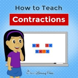 Contractions tough for you kiddos? Check out How to Teach Contractions! #fhdhomeschoolers #freehomeschooldeals #homeschoolgrammar #hsmoms #allaboutlearning