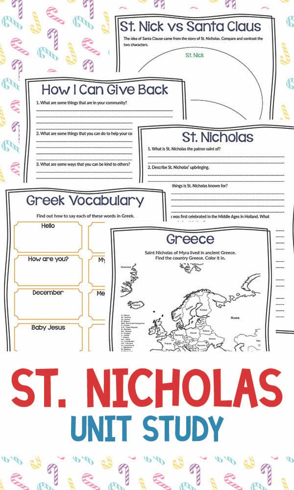 FREE Unit Study on Old St. Nicholas #st.nicholas #christmasunitstidy #fhdhomeschoolers #freehomeschooldeals