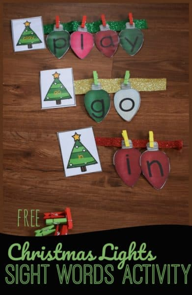 FREE Sight Words Christmas Lights Activity #Christmassightword #sightwordactivity #Christmaslightssightwords #fhdhomeschoolers #freehomeschooldeals