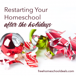 Coming back made easy! Check out Restarting Your Homeschool After the Holidays! #fhdhomeschoolers #freehomeschooldeals #hsmoms #christmas #homeschoolinglife