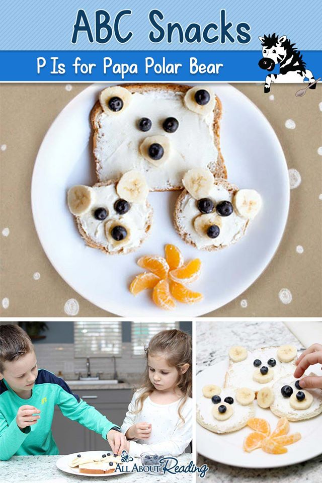 For a fun wintry way to practice the letter P, check out ABC Snacks: P is for Papa Polar Bear + FREE Polar Bear Pack! #fhdhomeschoolers #freehomeschooldeals #hsmoms #preschool #homeschooling