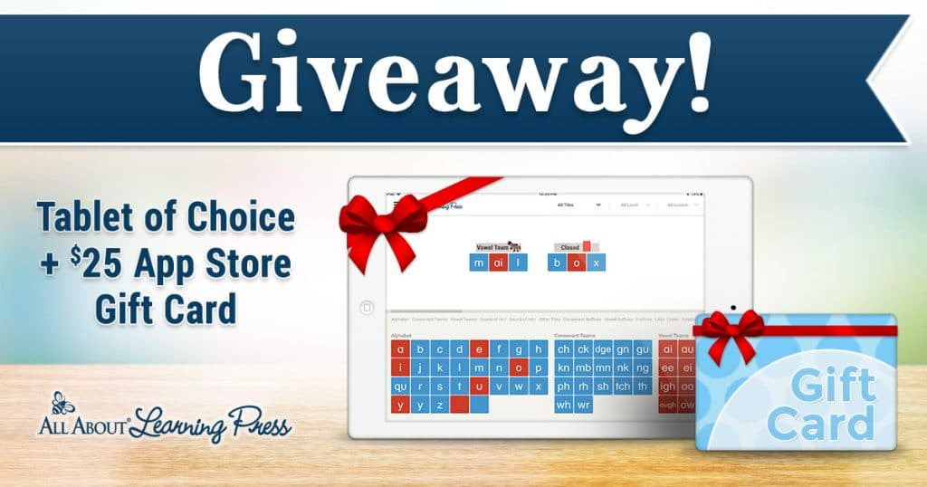 All About Learning Press Giveaway - Tablet of Winners Choice + $25 App Store Gift Card