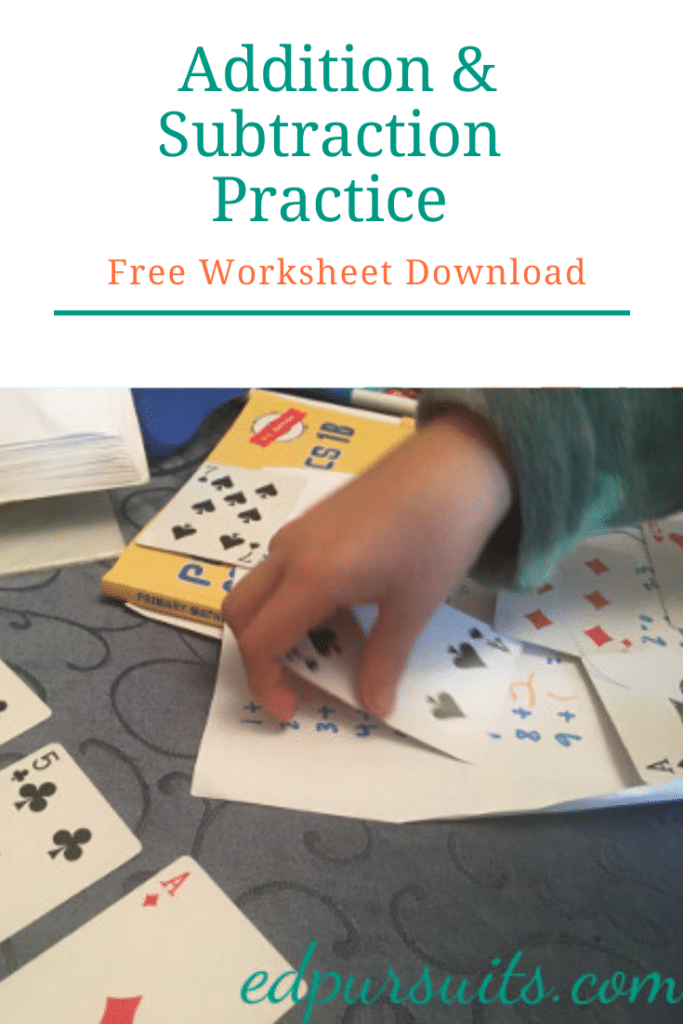 FREE Math Facts Worksheets and Games. #fhdhomeschoolers #freehomeschooldeals #mathfacts #addition #subtraction