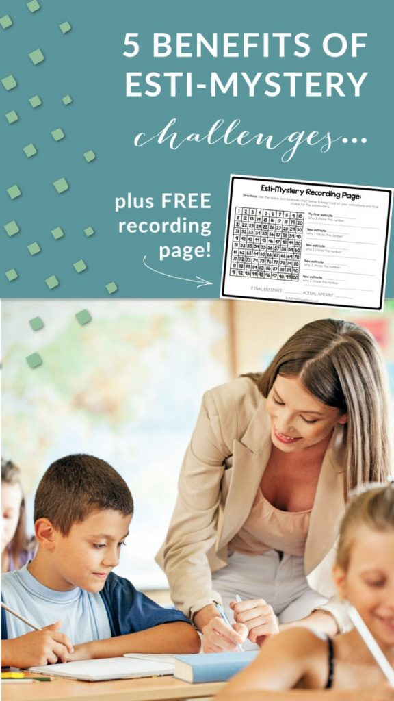 FREE Recording Pages for Esti-Mystery Challenges. #fhdhomeschoolers #freehomeschooldeals #estimysterychallenge #mathchallenge