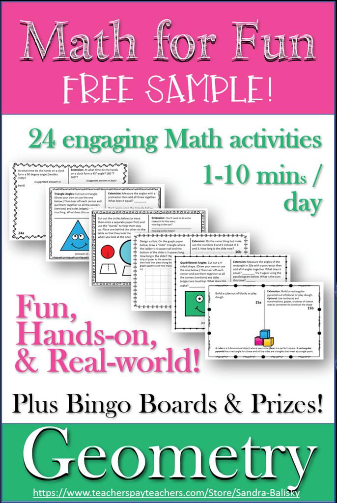 FREE fun math activities. #funmathactivities #fhdhomeschoolers #freehomeschooldeals
