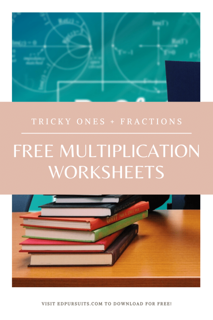 FREE Worksheets for Multiplying Fractions. #fhdhomeschoolers #freehomeschooldeals #multiplyingfractions
